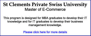 St Clements Private Swiss University - Master of Ecommerce